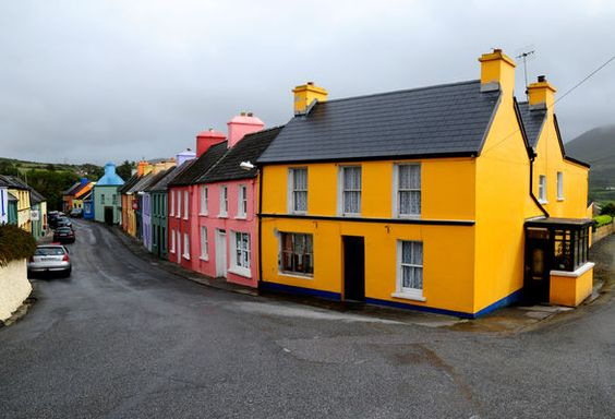 Gray Sky but Colourful Houses