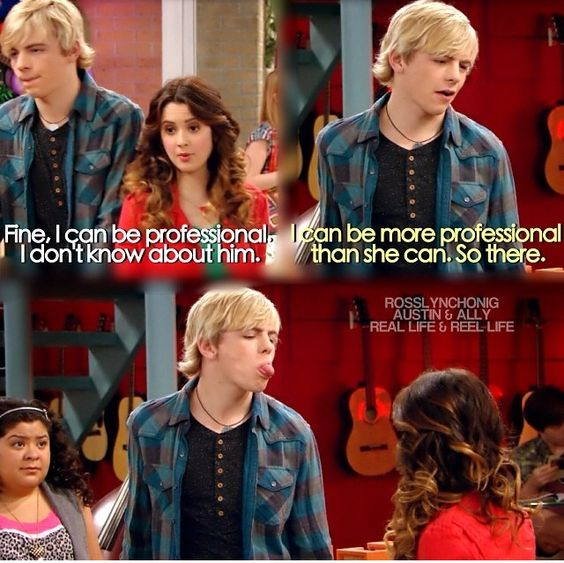 Austin and Ally.I'm laughing so hard! :DDD