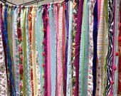 Boho tissu Garland Streamers - Rideau - dortoir, salle de l'adolescence, décor, décor - Hippie, Indie, roulotte, marocain