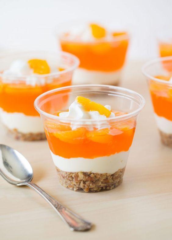 No-bake mandarin orange pretzel parfait dessert recipe: