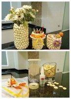 Recipientes hechos con cáscaras de pistachos