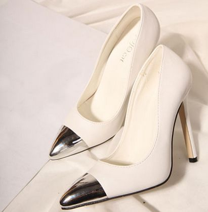 "shoespie: ""  Classic Contrast Color Pointed-toe Heels more>http://www.shoespie.com/C/Cheap-Heels-104569/ "" Want!"
