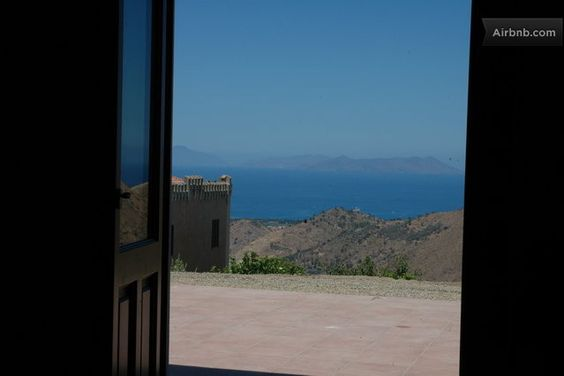 the sea and the Aeolian Islands from a room #villarica, #sicily, #bandb