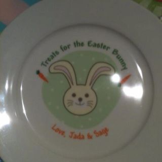 Carrots for the Easter bunny plate. A tradition to last a lifetime