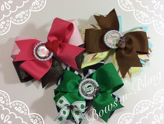 holiday bow trio