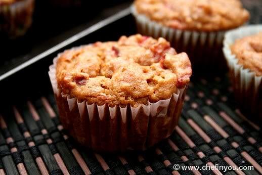 Strawberry Banana Quinoa Muffins (Eggless) | recipes | Pinterest ...