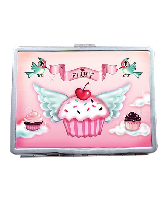 This Fluff Cupcake Heaven Metal ID Case by Fluff is perfect! #zulilyfinds