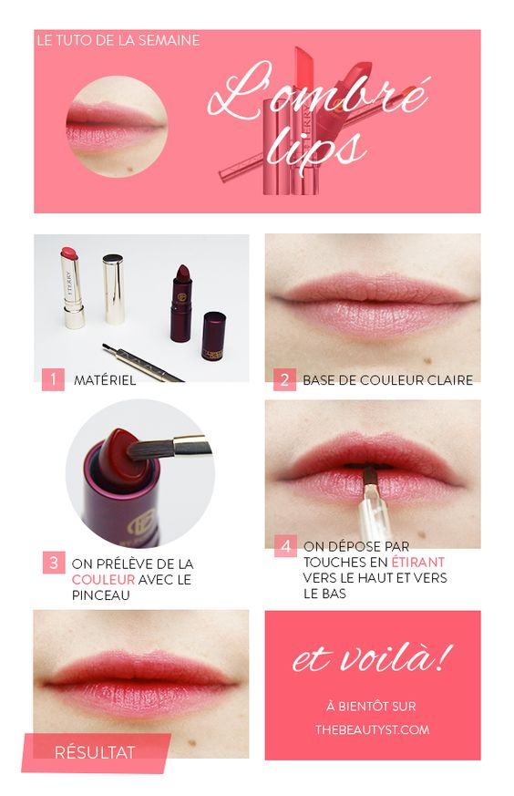 astuces maquillage lèvres