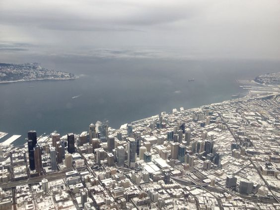 Snowy Seattle