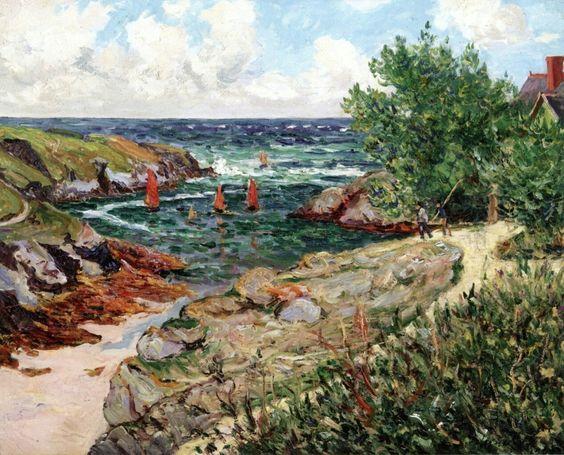 The Harbor At Goulphar, Belle-Ile-en-Mer - Maxime Maufra