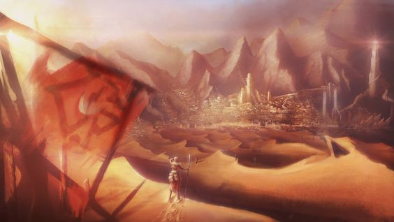 The Great City of Umbar, LOTR by DireImpulse on deviantART