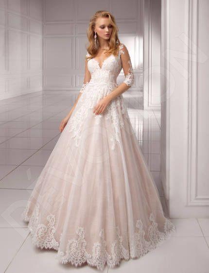 Olamia Classic Lace Chantilly Wedding dress White