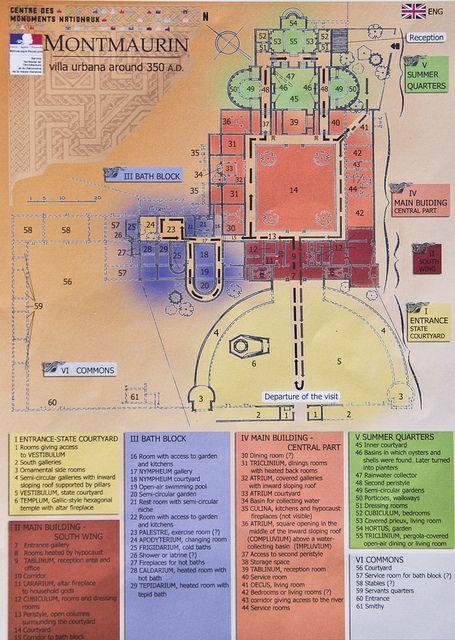 Roman Villa Map: