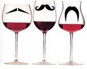 moustache wine glass <3