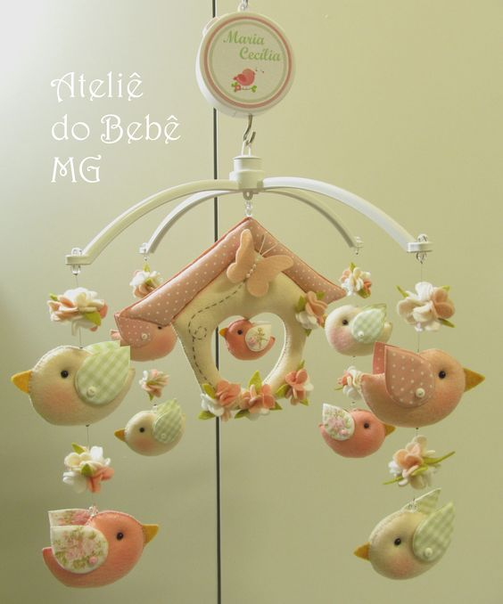Móbile Musical Pássaros