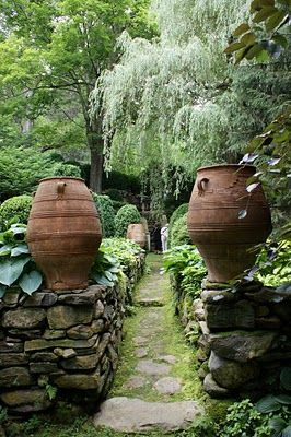 love the statement these large pots makes