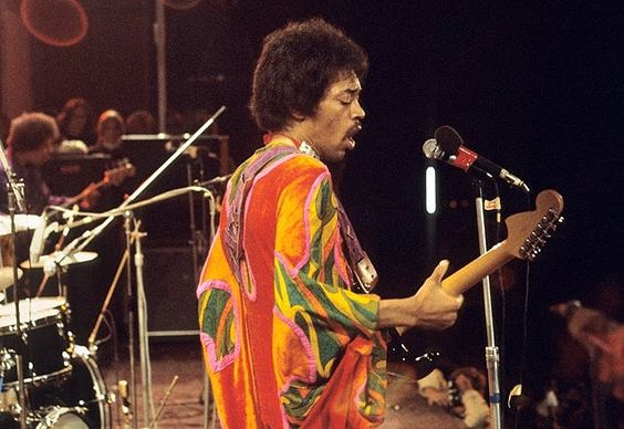 "Jimi Hendrix 1970 ""Isle of Wight Music Festival ""."
