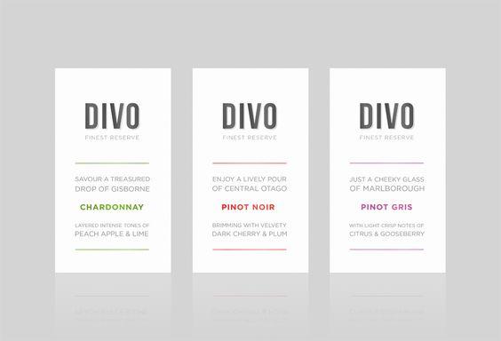 London Studio -Brand creation and wine label design for Divo Finest Reserve
