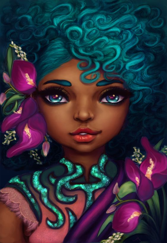 "Fyblackwomenart: ""Delicate by ChiCaGos"":"