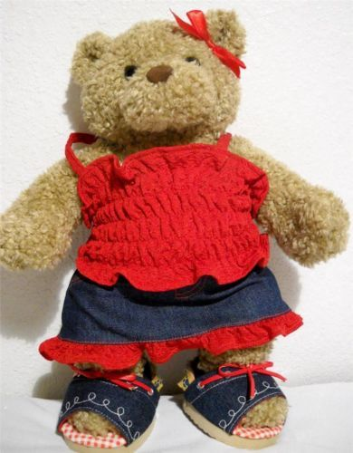 This cute Build a Bear girl bear comes with her outfit and shoes. She'd make a great gift for a young girl. $24.99 on ebay.