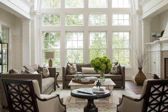 Barrel Ceiling Furniture Arrangement And Traditional Living Rooms On Pinterest
