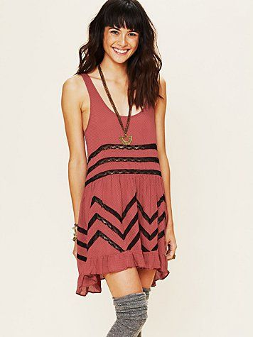 Boho chevron print dress