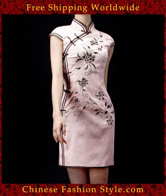 Chinese Cheongsam Qipao Gown - Vintage Cocktail Dress Asian Fashion Chic # 115  http://www.chinesefashionstyle.com/cheongsams-qipao/