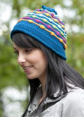 Dot & Dashes Hat - from the Cascade Yarns  website.  Find it under their 'Free Patterns' section.