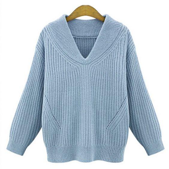 Ice cream blue knit