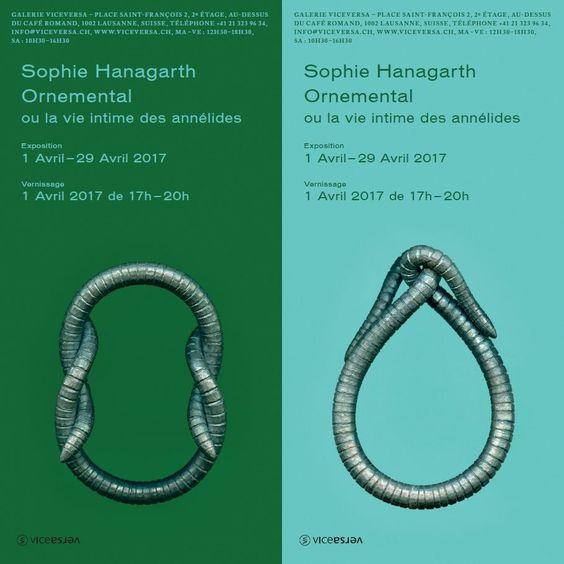 SOPHIE HANAGARTH, le 1er avril à 17h et jusqu'au 29 avril 2017 - ViceVersa - ('Figure du nœud plat'  /  'Figure du coup de fouet' Bracelets, fer pur (2017))