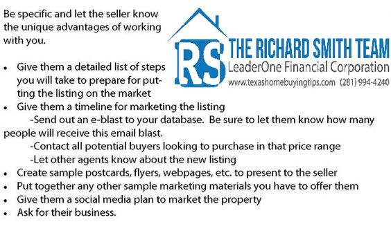 Nail your listing presentation and win their listing. Check out a few tips that we would recommend! :)