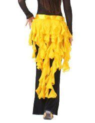 Amazon.com: Dance Fairy yellow nine-tailed Fox Chiffon Leaf Skirt Hip Scarf belt: Clothing, Shoes & Jewelry