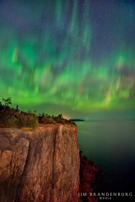Aurora Borealis, Lake Superior, Minnesota, USA
