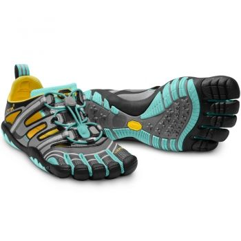 Vibram Five Fingers - Treksport Sandal (Damen) - Zehenschuhe - Grey/Aqua/Black