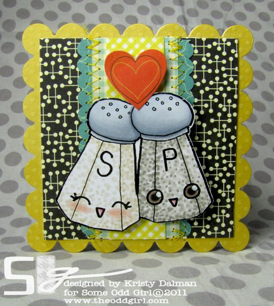 Some Odd Girl Stamps- Kristy makes the cutest stamps and then uses them on the coolest card designs- fabulous!