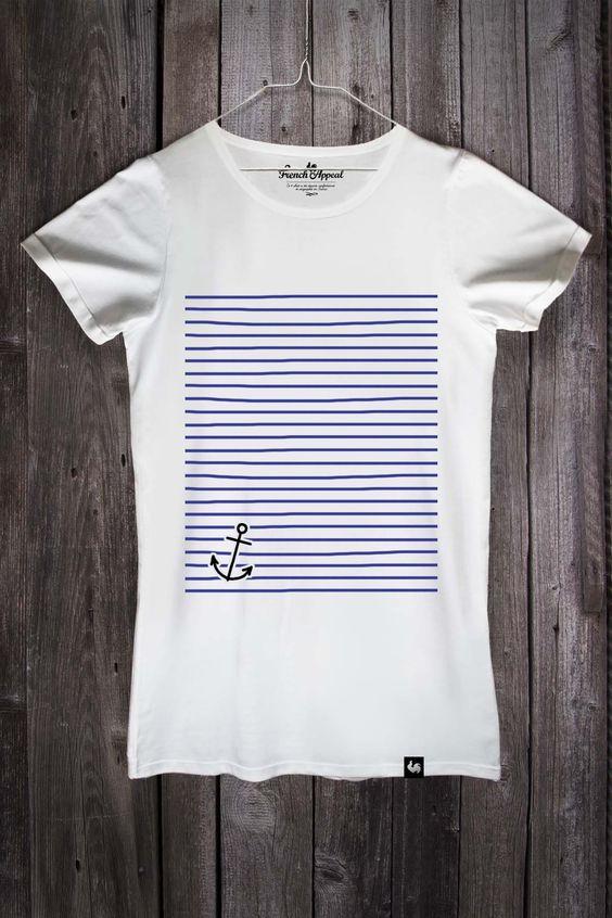 """T-shirt """"Marinière ancre"""" - Homme"""