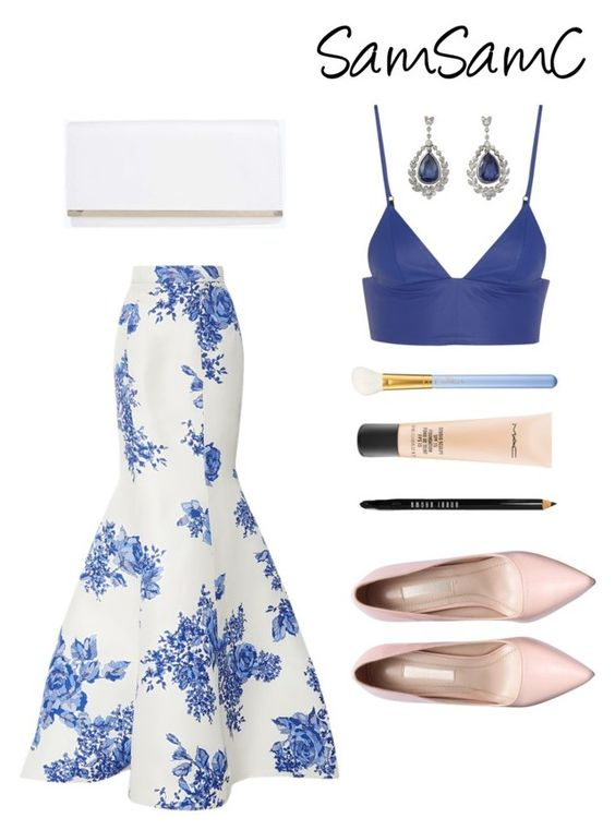 """""""# 195 ♡"""" by samchoo ❤ liked on Polyvore featuring Boohoo, T By Alexander Wang, MAC Cosmetics, Bobbi Brown Cosmetics and Monique Lhuillier"""