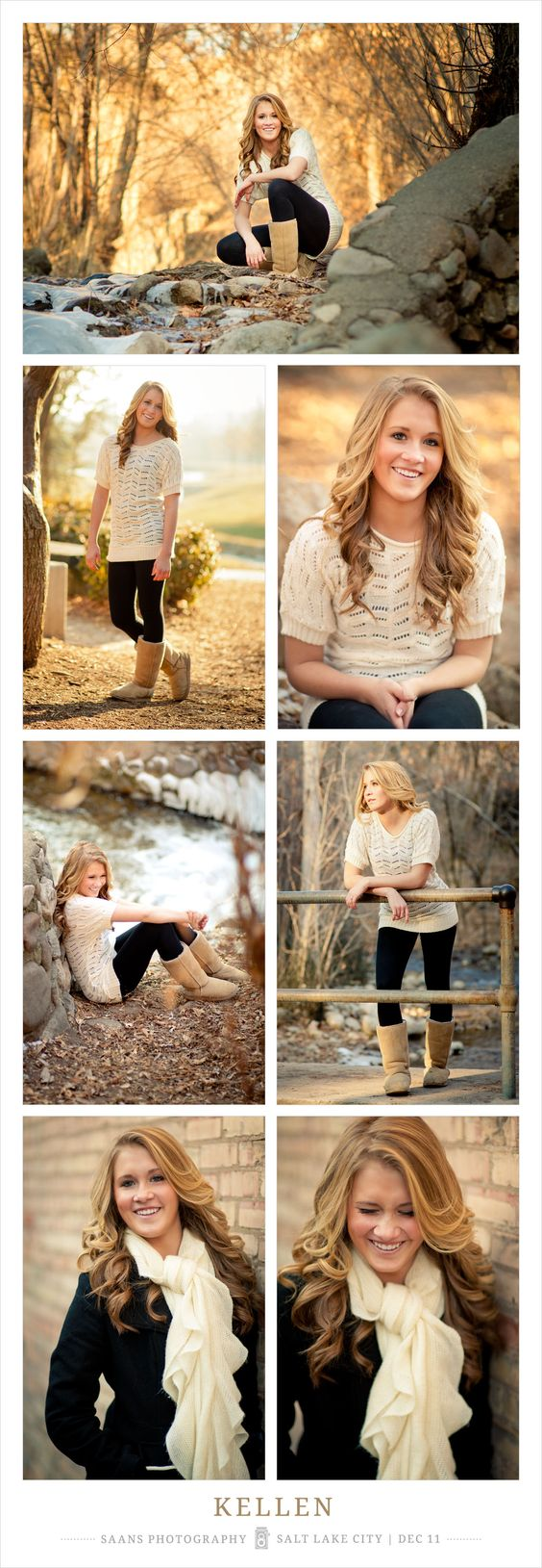 Senior Portraits | Saans Photography, Salt Lake City Utah | Gorgeous fall senior portraits in Utah, great color beautiful natural light