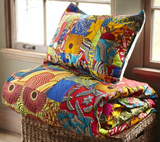 Ghanaian Duvet Set - Produced by an arts-based women's cooperative in Ghana, sales of our Ghanian Duvet set contribute to fair trade practices and free HIV/AIDS education, prevention, testing and links to treatment for thousands of men, women and youth in Ghana, West Africa.