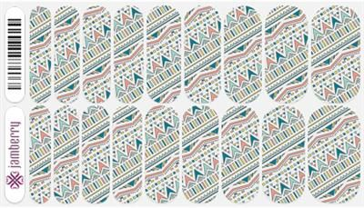 Add a layer of graphic style to your lacquer or bare nail with this clear wrap. Boomerang by Jamberry Nail Wraps