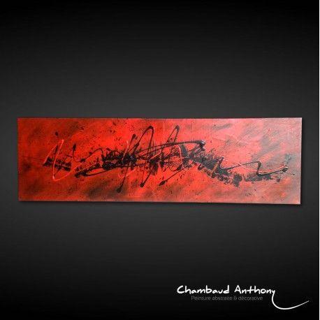 Peinture abstraite rouge et noir - Peintre tableau noir ...