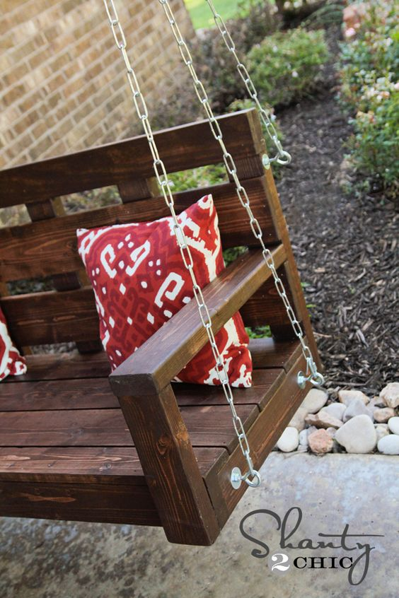 How to build and hang a porch swing. I don't have a porch but I really want one now ha ha