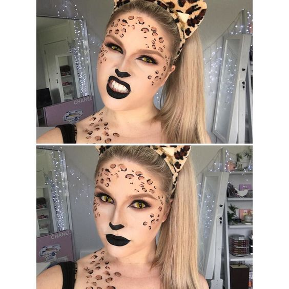 Everyone has that one friend who dresses up as a sexy leopard/cat  tutorial coming soon I'm gonna film a different cat look right now hopefully and do a 2-in-1 tutorial  #shaaanxo