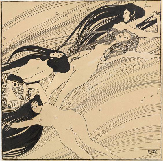 Klimt, Fishblood, 1898