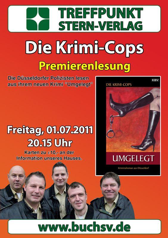 """Premierenlesung der Krimi-Cops zu """"Umgelegt"""" am 01.07.2011 im Stern-Verlag"""