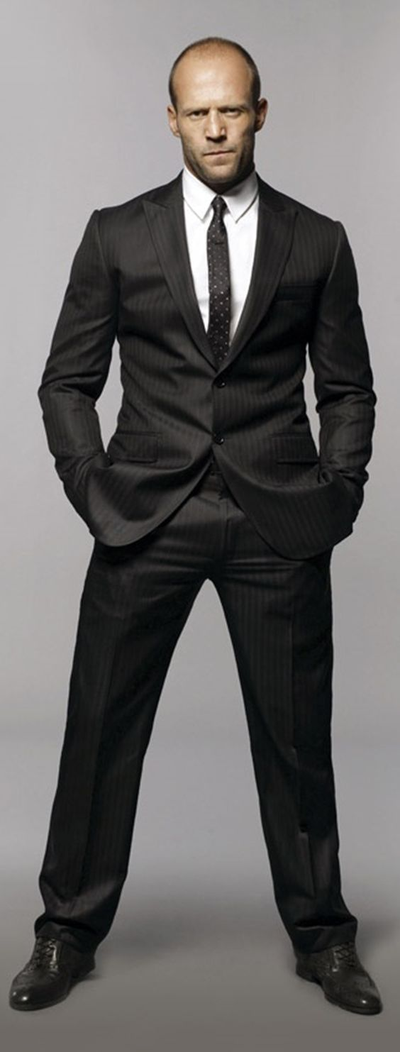 Jason Statham. Looks aren't everything, but his acting says it all. Love what he's done in the Transporter series and in The Expendables. Love you<3