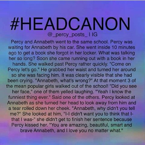 Percabeth headcannon