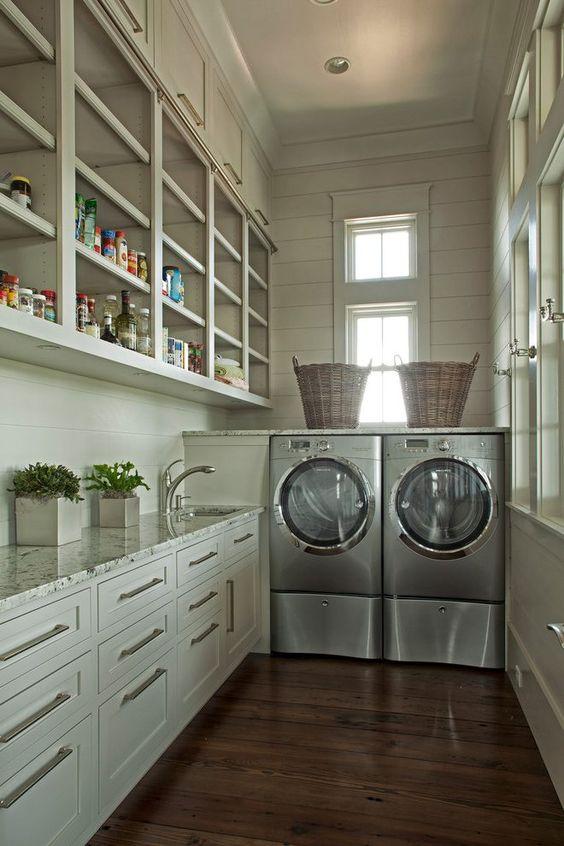 キッチンパントリー ランドリー 洗濯室 家事室 兼用 イメージ