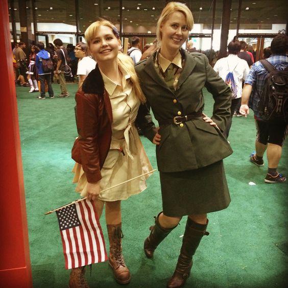 Anime Expo 2014 cosplay_heroine as America from Hetalia and jodipayneart as England