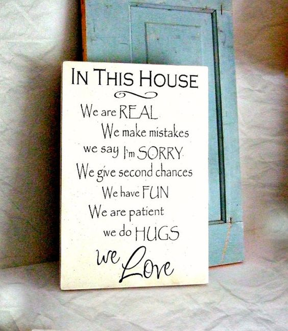 In This House Wood Sign We Are Real We Love Wall Sign House Rules